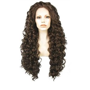 Ebingoo brand brown curly lace front wig